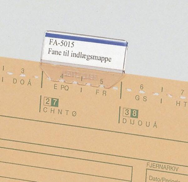 Indlægsmappe fane 50 x 15 mm A4 Systemer Til Indlaegsmappe   Fa5015   Indlægsmappefane   Struktuhr