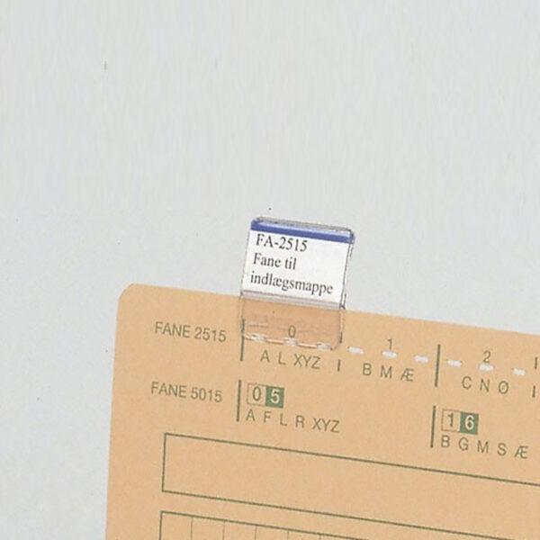 Indlægsmappe fane 25 x 15 mm A4 Systemer Til Indlægsmapper 25mm Fa2515 | Bestil online ved struktuhr
